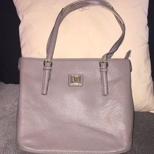Vintage Anne Klein bucket purse gray used